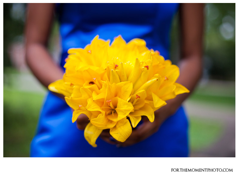 St louis wedding photography lovable flowers st louis wedding love the royal blue canary yellow combination flowers mightylinksfo