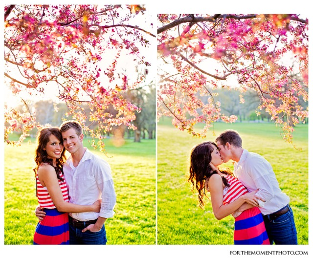 For The Moment Photography | Tower Grove Park Spring Engagement Photos