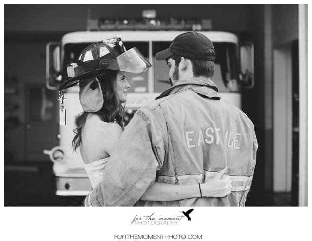 Firehouse Engagement Photos www.forthemomentphoto.com