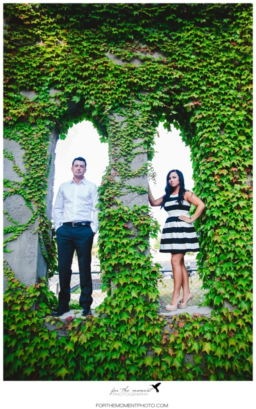 Ivy Abandoned Building Kate Spade Inspired Engagement Photos