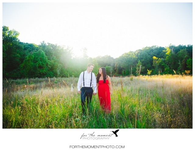 St Louis Sunset Field Wedding Photography