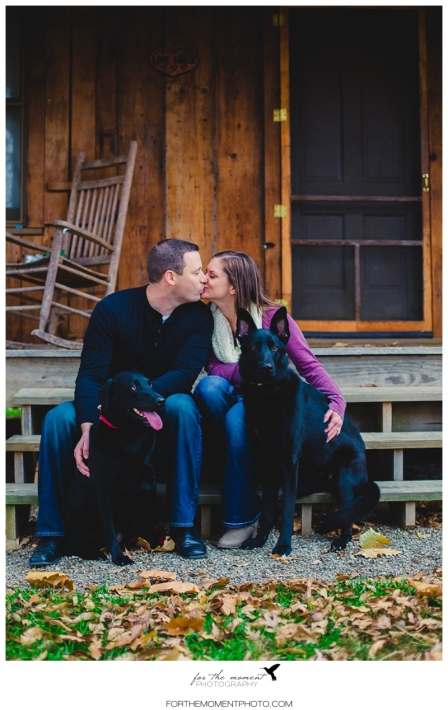 Autumn Engagement Photos at The Bluffs | For The Moment Photography